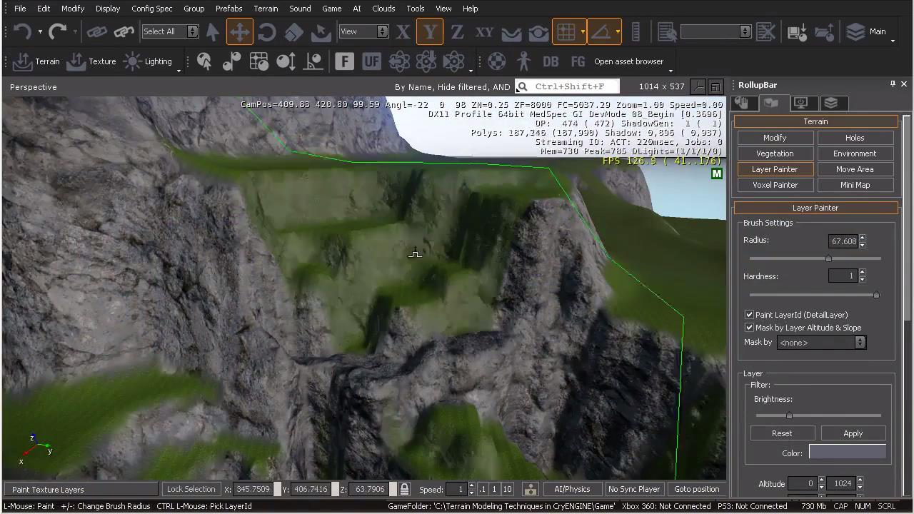 فیلم آموزشی Terrain Modeling Techniques in CryENGINE